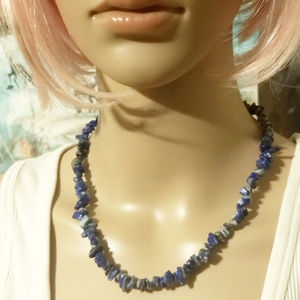 Jewelry - LAPIS LAZULI NECKLACE - Blue Gemstone Choker Cute